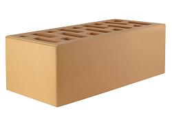 Кирпич облицовочный керамический пустотелый солома полуторный (250х120х88) с фаской, с утолщённой лицевой стенкой (20мм) производства ООО «ОСМиБТ» г.Старый Оскол изготовленный на итальянской линии по производству облицовочного кирпича Е1