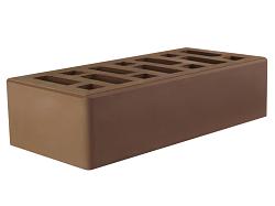 Кирпич облицовочный керамический пустотелый одинарный коричневый (мокко) (250х120х88) с фаской, с утолщённой лицевой стенкой (20мм)производства ООО «ОСМиБТ» г.Старый Оскол. Изготовленный на итальянской линии по производству облицовочного кирпича Е1