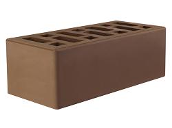 Кирпич облицовочный керамический пустотелый полуторный коричневый (мокко) (250х120х88) с фаской, с утолщённой лицевой стенкой (20мм)производства ООО «ОСМиБТ» г.Старый Оскол. Изготовленный на итальянской линии по производству облицовочного кирпича Е1