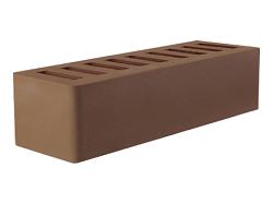 Кирпич облицовочный керамический пустотелый Евро коричневый (мокко) (250х85х65) без фаски, производства ООО «ОСМиБТ» г.Старый Оскол. Изготовленный на французской линии по производству облицовочного кирпича Е2 (французское оборудование Ceric)