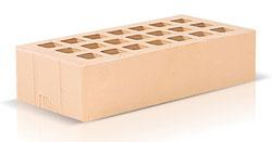 Кирпич цвета слоновой кости одинарный (250х120х65) производства ЗАО «Железногорский кирпичный завод». Железногорский кирпич производится на испанских производственных линиях. Это оборудование позволяет достичь устойчивости окрашивания поверхности материала, точности его геометрии, морозостойкости F35-50 и низкого коэффициента теплопроводности.