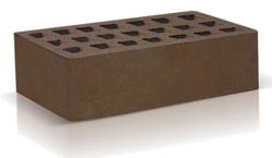 Кирпич темно-коричневый одинарный (250х120х65) производства ЗАО «Железногорский кирпичный завод». Железногорский кирпич производится на испанских производственных линиях. Это оборудование позволяет достичь устойчивости окрашивания поверхности материала, точности его геометрии, морозостойкости F35-50 и низкого коэффициента теплопроводности.