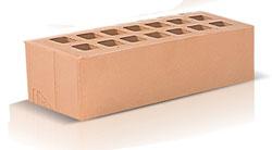 Кирпич облицовочный соломенного цвета Евроформат 0,7 NF (250х85х65) производства ЗАО «Железногорский кирпичный завод». Железногорский кирпич производится на испанских производственных линиях. Это оборудование позволяет достичь устойчивости окрашивания поверхности материала, точности его геометрии, морозостойкости F35-50 и низкого коэффициента теплопроводности.