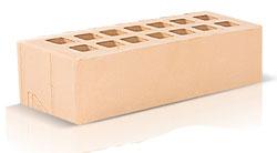 Кирпич облицовочный цвета слоновой кости Евроформат 0,7 NF (250х85х65) производства ЗАО «Железногорский кирпичный завод». Железногорский кирпич производится на испанских производственных линиях. Это оборудование позволяет достичь устойчивости окрашивания поверхности материала, точности его геометрии, морозостойкости F35-50 и низкого коэффициента теплопроводности.