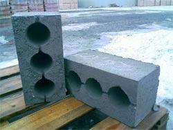 Шлакоблоки стеновые трёхпустотные усиленные ШБС-30 (40х20х20) производственного предприятия «Стеновой камень» Старый Оскол